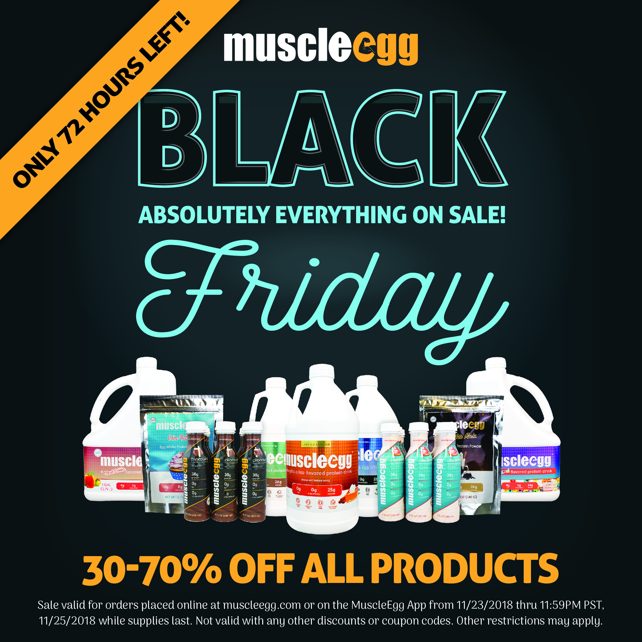 f8f30fa869be Muscle Egg  EVERYTHING is 30% - 70% Off at MuscleEgg!