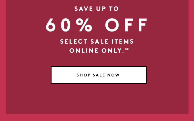 Our sale is back up!