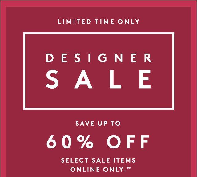 Save big on top designer styles.