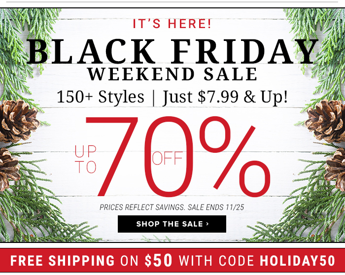 It's Here! The Black Friday Sale