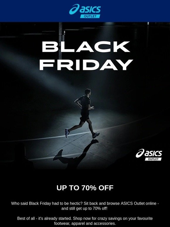 Medieval cura acción  ASICS Clearance: It's Black Friday - up to 70% off on ASICS Outlet! | Milled