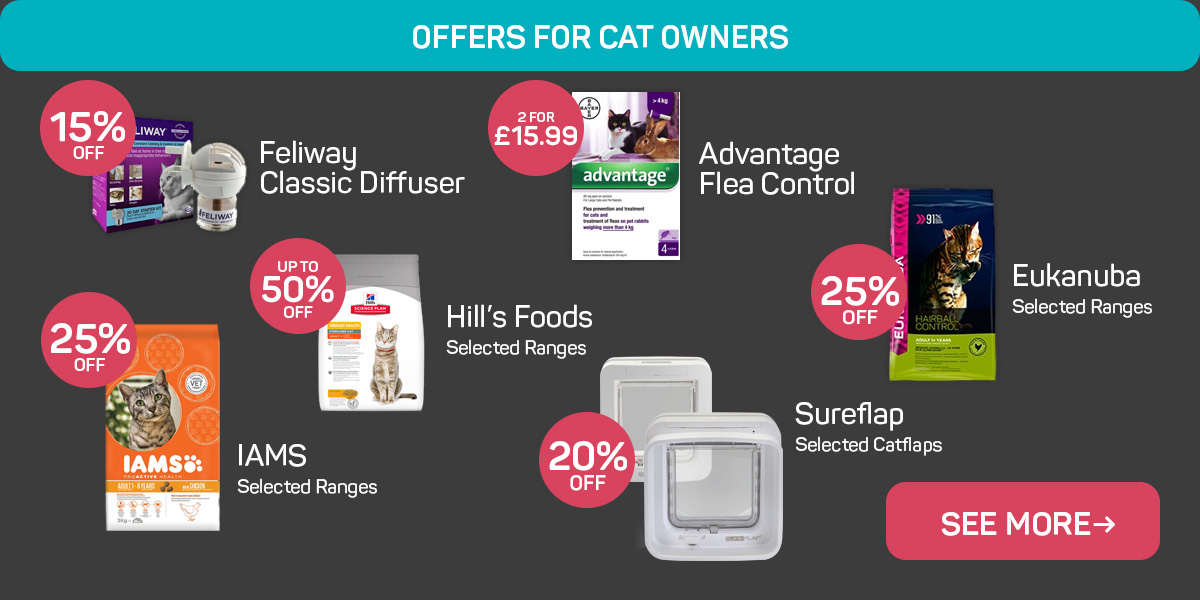 Browse more offers for cat owners!