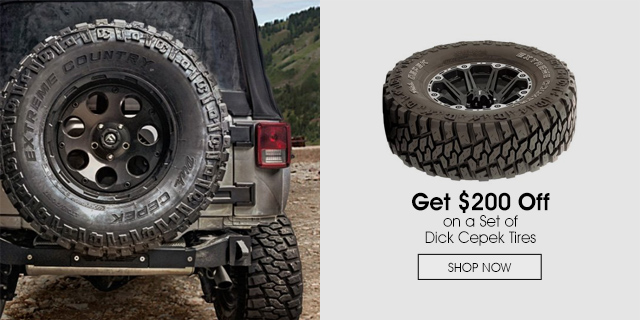 $200 Off on a st of Dick Cepek Tires
