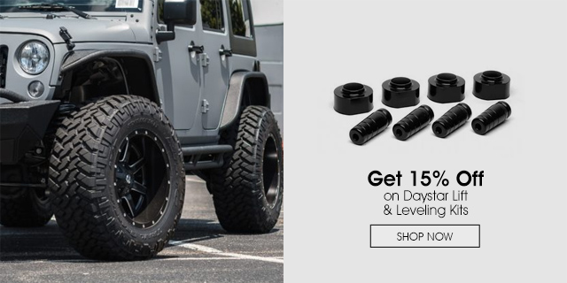 15% Off on Daystar Lift & Leveling Kits