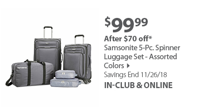 Samsonite 5-Pc. Spinner Luggage Set