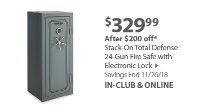 Stack-On Total Defense 24-Gun Fire Safe with Electronic Lock