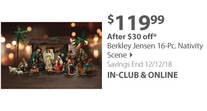 Berkley Jensen 16-Pc. Nativity Scene