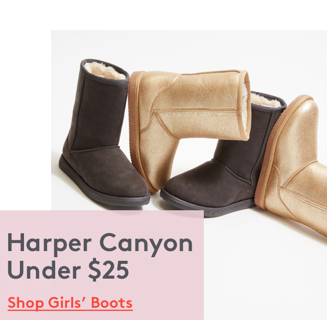 Harper Canyon Under $25   Shop Girls' Boots