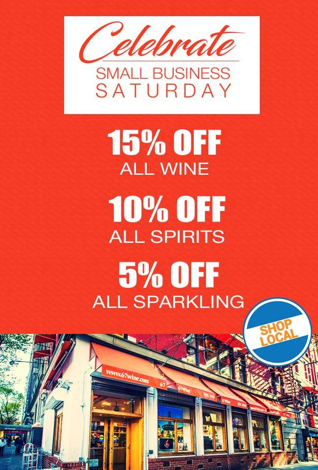 Celebrate Small Business Saturday - Shop Local!
