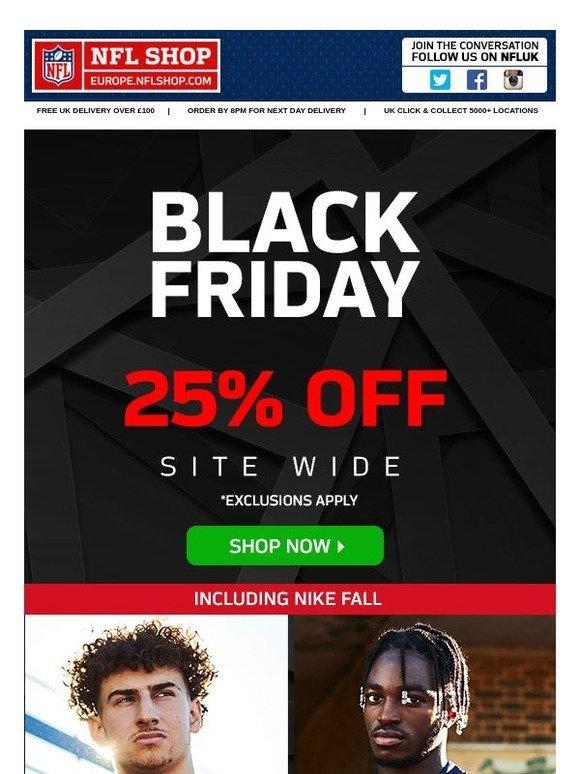 a7a39b94a5b NFL Europe Shop: 🍂 Black Friday 🍂 25% off new Nike Fall   Milled