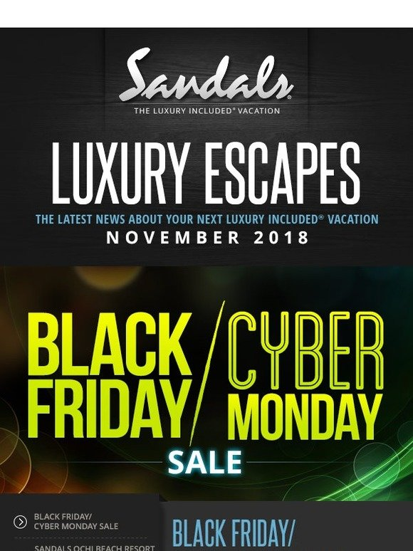 8cf76b8a72296 Sandals   Beaches Resorts  Your Sandals Luxury Escapes November ...