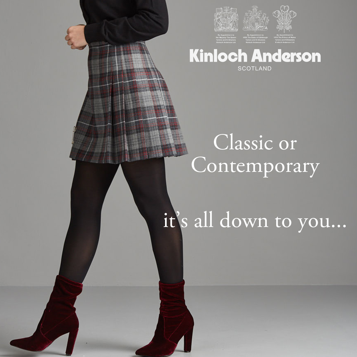 826d510a50f6 What a choice...Mini, below the knee, calf length or down to the floor -  wear it your way. The Classic Kilted Skirt ...