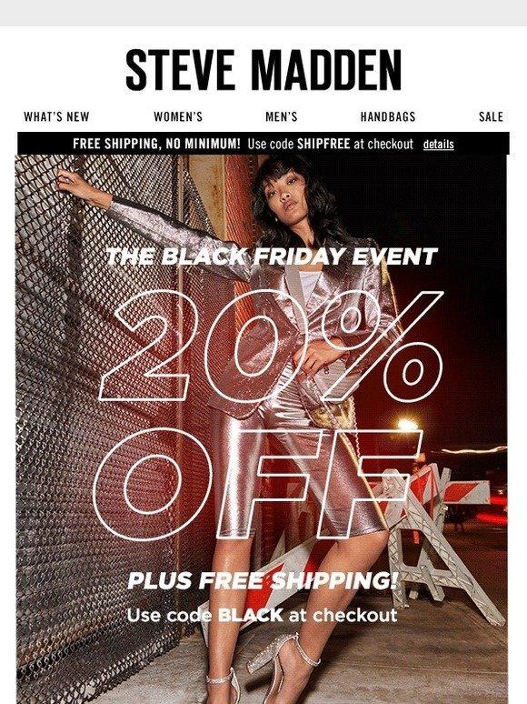 92056b44880 Steve Madden Canada  20% off plus free shipping