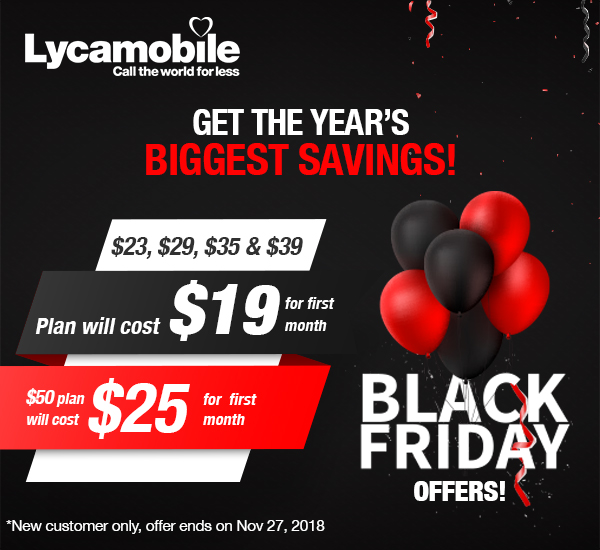 Lycamobile USA: Get the year's biggest savings!   Milled