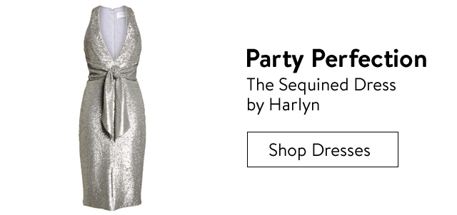 Party perfection, the sequined dress by Harlyn.