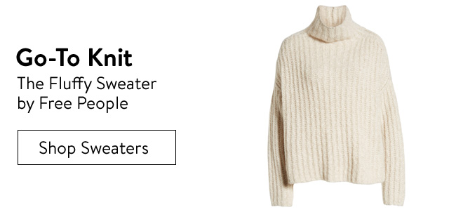 Go-to knit, the fluffy sweater by Free People.