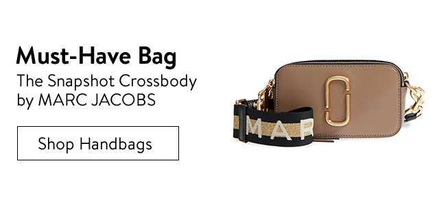 Must-have bag, the Snapshot crossbody by MARC JACOBS.