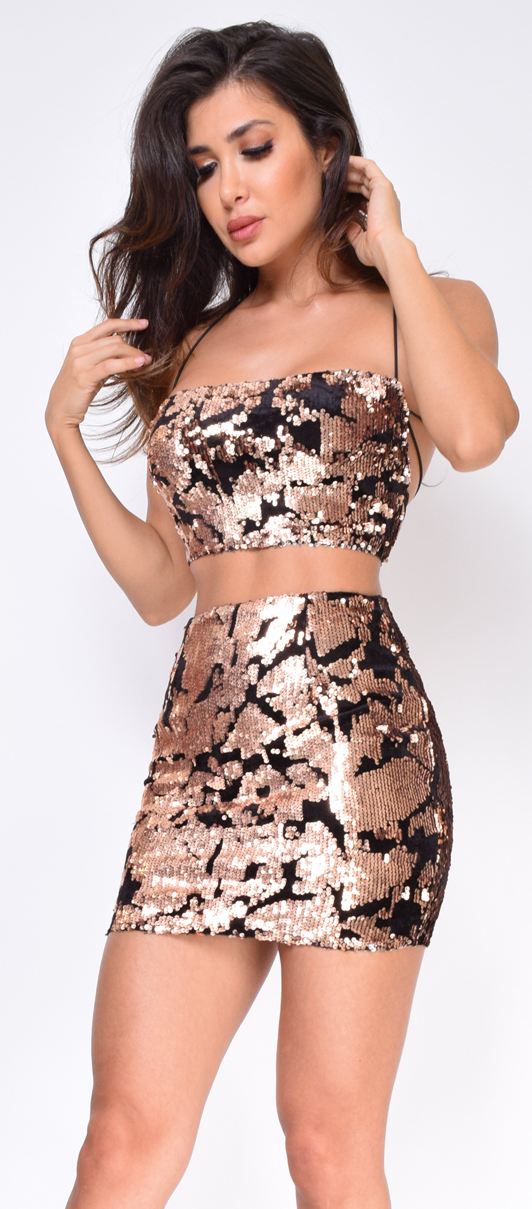 786f93ceb10f Image of Dion Bronze Sequin Top And Skirt Set