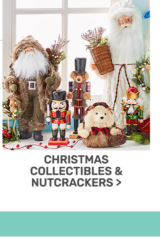 Buy one, get one fifty percent off Christmas collectibles and nutcrackers.
