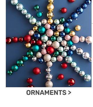 Buy one, get one fifty percent off ornaments.