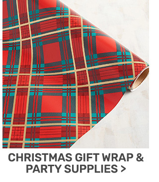 Buy one, get one fifty percent off Christmas gift wrap and party supplies.