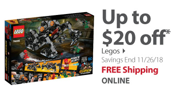 Up to $20 Off Legos