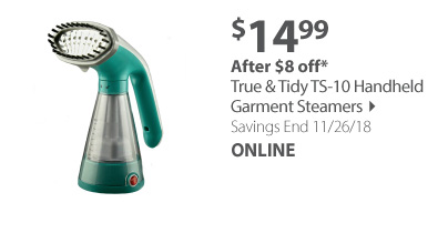 True & Tidy TS-10 Handheld Garment Steamers