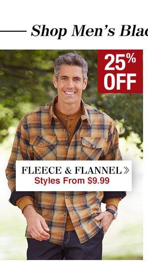Shop Men's Fleece & Flannel!