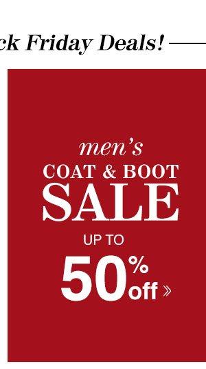 Shop Men's Coat & Boot Sale!