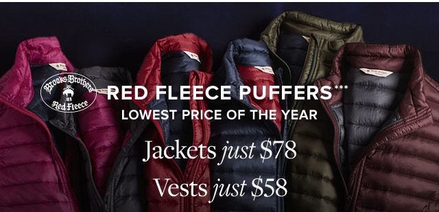 RED FLEECE PUFFERS
