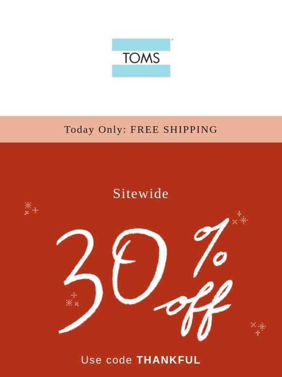 2f8961391901 TOMS  Today only! 30% off + FREE SHIPPING