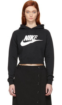 Nike - Black NSW Cropped Rally Hoodie