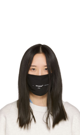Off-White - Black Logo Mask