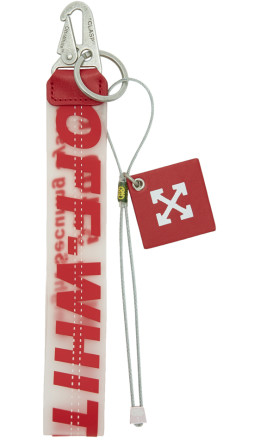 Off-White - Red Rubber Keychain
