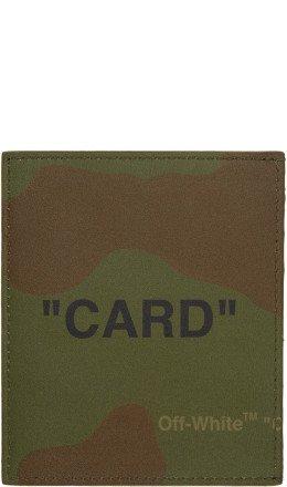 Off-White - Multicolor Camo Quote Card Holder