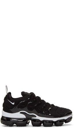 Nike - Black & White Air Vapor Max Plus Sneakers