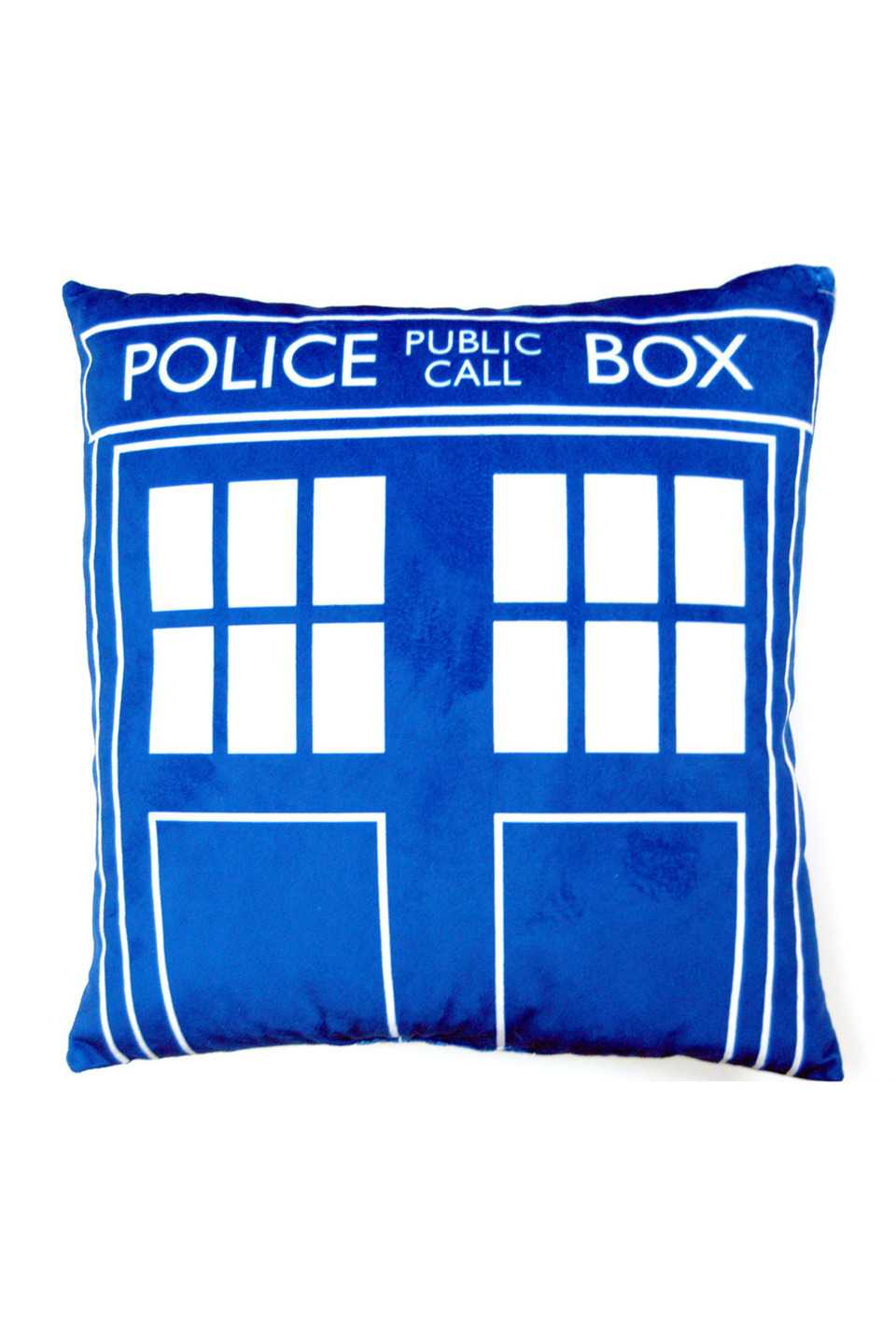 DR WHO TARDIS CUSHION IN BLUE