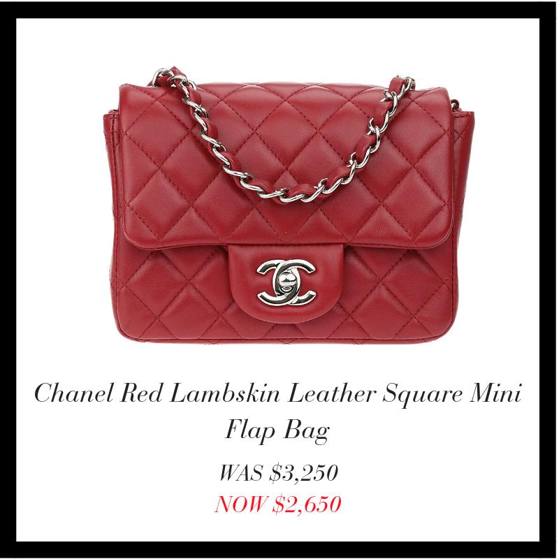 7167bfb8eda5 designer-vault.com: CYBER MONDAY DEAL: CHANEL RED LAMBSKIN MINI FLAP ...