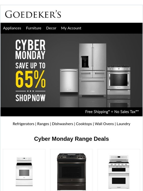 Goedeker S Cyber Monday Cooking Deals Up To 65 Off Milled