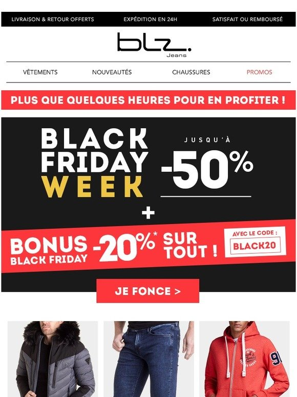 Minuit Blz C'est Black Friday JeansBonus À FiniMilled 54AjLR
