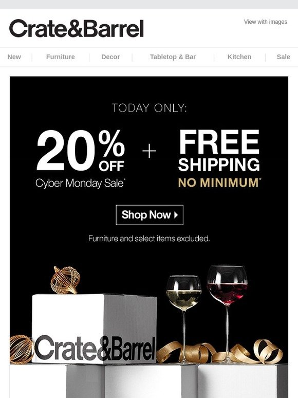 Crate And Barrel Cyber Monday Sale Milled
