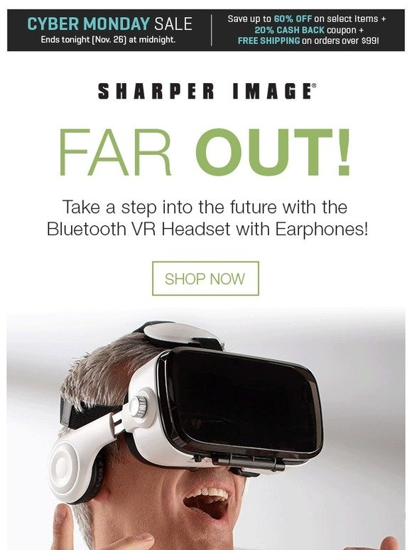 Sharper Image The Perfect Gift Bluetooth Vr Headset With Earphones