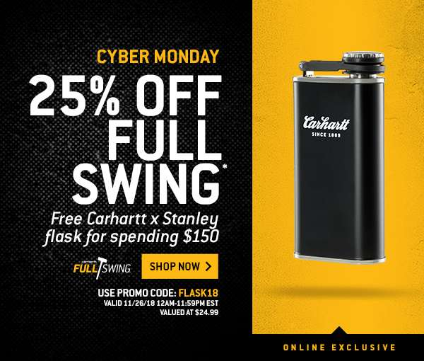 279233edf17 Carhartt: Cyber Monday: get your free flask | Milled
