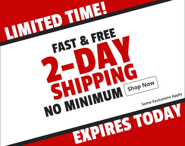 Fast & Free 2-Day Shipping