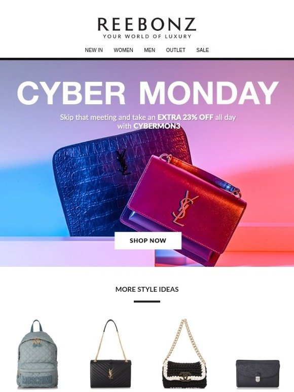8c00ab01e4 Reebonz AU APAC  Good news  you have been scheduled to shop this Cyber  Monday Sale!