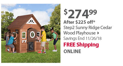 Step2 Sunny Ridge Cedar Wood Playhouse