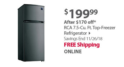 RCA 7.5-Cu. Ft. Top-Freezer Refrigerator