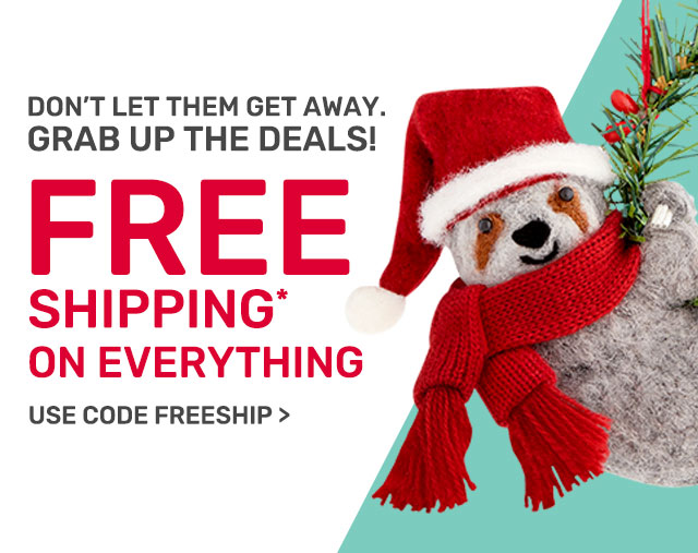Exclusively for you. Free Shipping on everything.