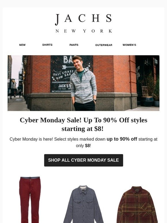2d15feb4 Jachs : Up To 90% Off! Cyber Monday Sale from $8! | Milled