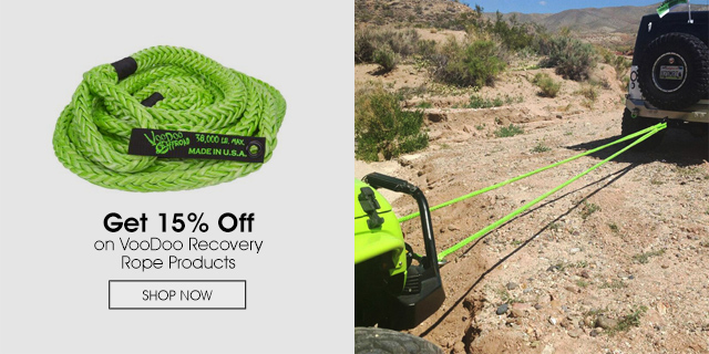 15% Off on VooDoo Recovery Rope Products